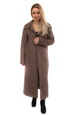 Wool Blend Coat Dark Camel