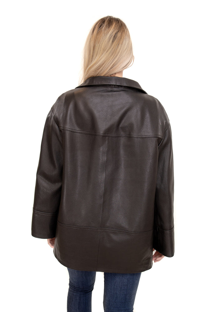 Load image into Gallery viewer, Leather Jacket Black