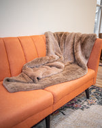 Rex Fur Blanket Knitted Two Sided
