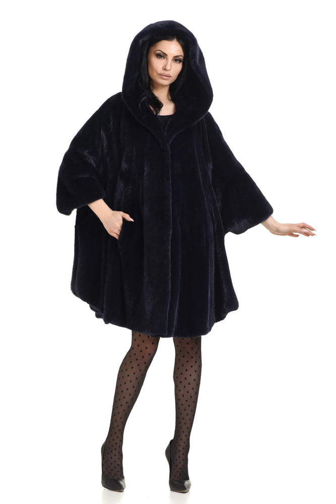 Mink Cape with Hood