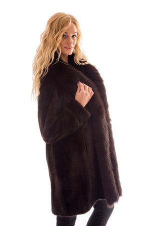 fur mink fox coat jacket