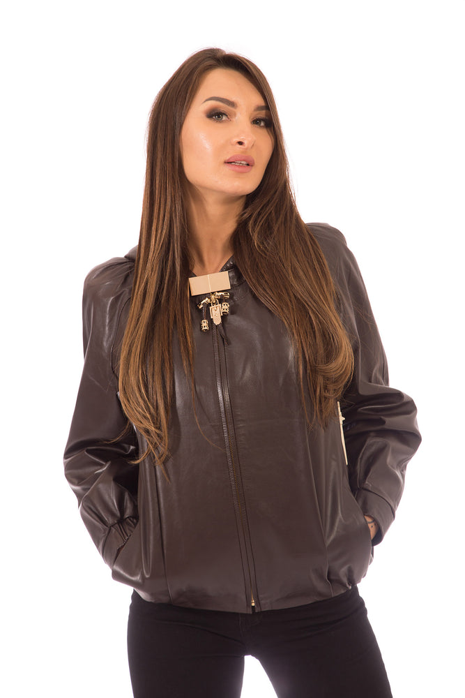 Leather Jacket Black with Hood