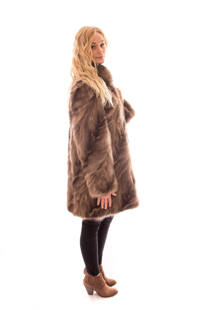 fur sable coat jacket