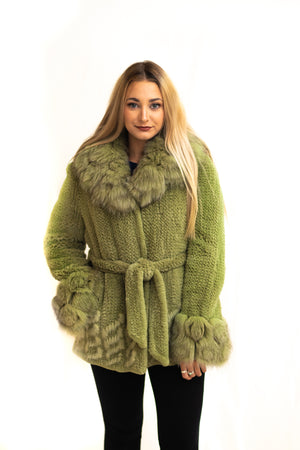 Sheared Rex Knitted Jacket, with Fox & Mink Available Cleveland ETON Chagrin & Akron Summit Mall