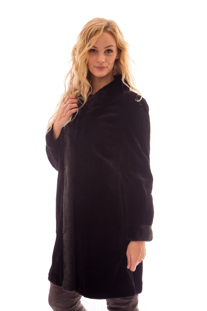 fur mink sheared jacket coat
