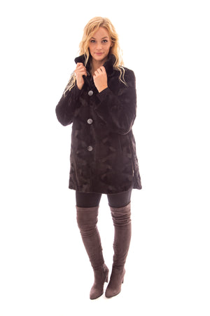 fur mink sheared coat reversible