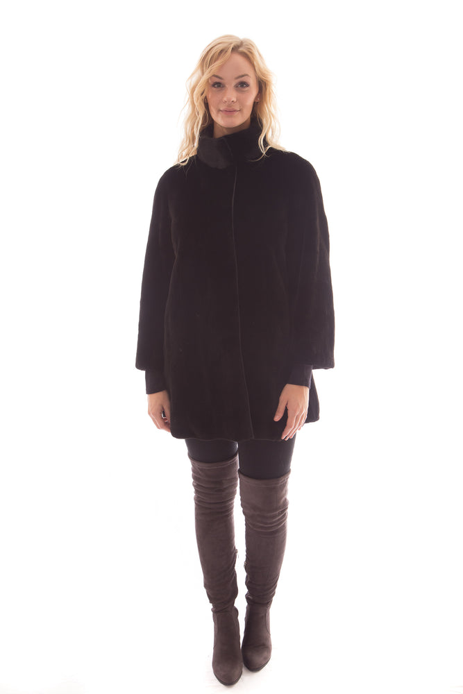 Sheared Mink Coat Reversible with Mink Collar