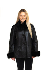 Shearling Jacket with Mink Collar