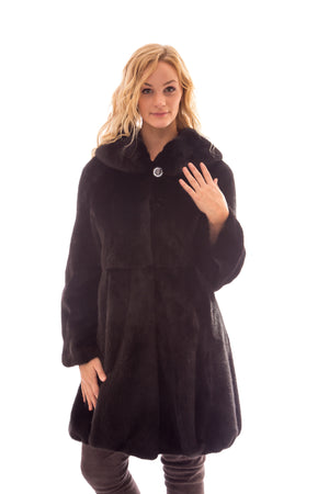 fur ranch mink coat