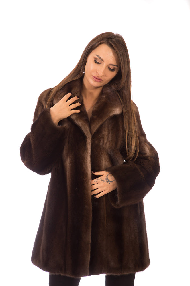 Load image into Gallery viewer, Mink Fur Jacket Grey Degrade