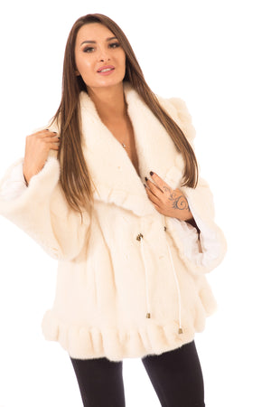 White Mink Fur Jacket
