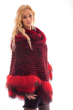 fur chinchilla tibet lamb cape poncho
