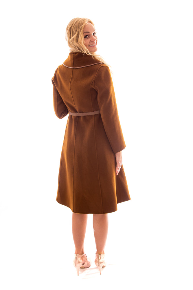Load image into Gallery viewer, wool cashmere coat