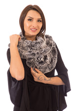 Chinchilla Scarf Knitted, Snood