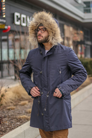 Parka with Shearling Liner and Raccoon Trimmed Hood Available Cleveland ETON Chagrin & Akron Summit Mall