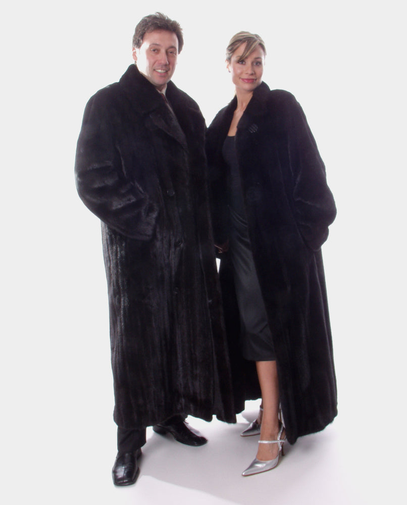 Ranch or Mahogany Mink Fur Coat, Men's