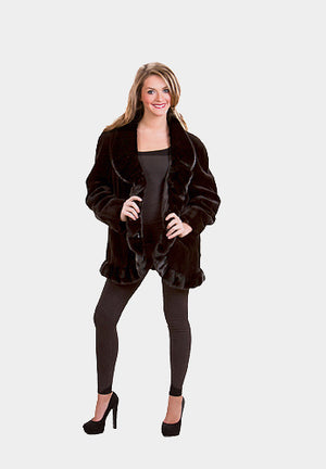 Sheared Mink Fur Jacket with Ruffle Mink Trim Available Cleveland ETON Chagrin & Akron Summit Mall