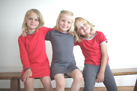 organic cotton girl's dresses and T-shirts