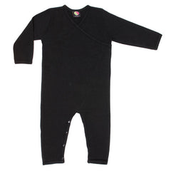 black organic cotton baby sleep suit - black clothes for babies
