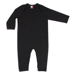 black organic cotton baby grow - black clothes for babies