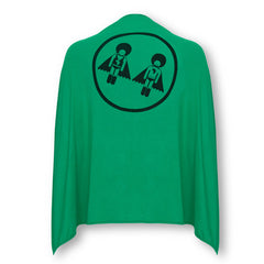 Afro Supa Hero Children's Superhero Cape -Supa Twins print