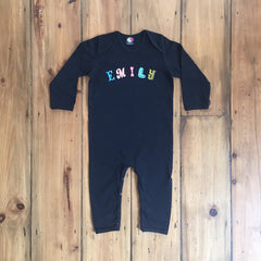 Black clothes for babies - personalised baby gifts