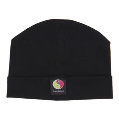black clothes for babies - organic cotton baby beanie hat