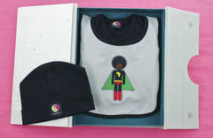 Afro supa baby shower ideas for baby boys, black clothes for babies