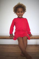 organic kids clothes - red girls dress