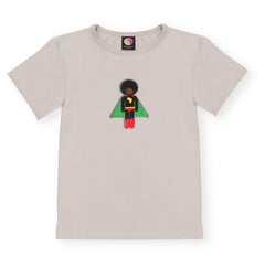 Starboy Stone bamboo and organic cotton short sleeve Afro Supa Hero boys t-shirt