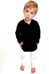 Organic kid's clothing - hoodie hoodie top black