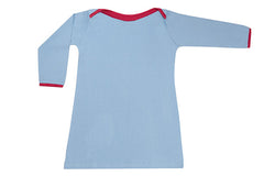 organic kids clothes, blue girls dress