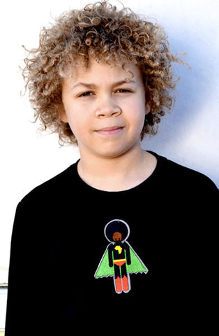 BOYS T-SHIRT - Afro Supa®  - long sleeve