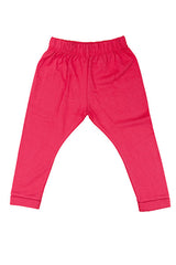 Raspberry pink organic cotton and modal fabric kid's leggings, organic kids clothes