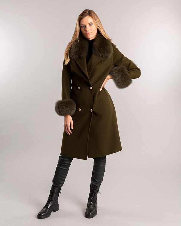Sloane Wool Coat Moss Green