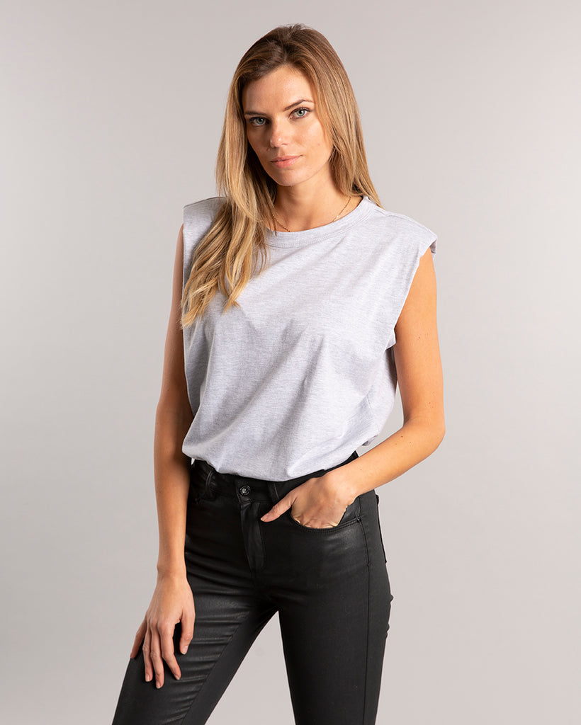 Grey Padded T-shirt