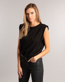 Black Padded Muscle T-shirt