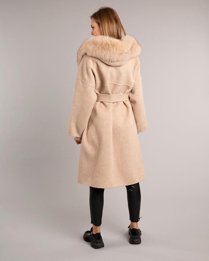 Kate Wrap Wool Long Oat