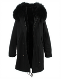 Black Parka 3/4 Length