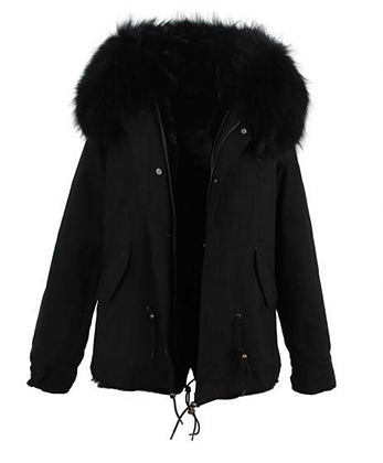 Black Parka Short