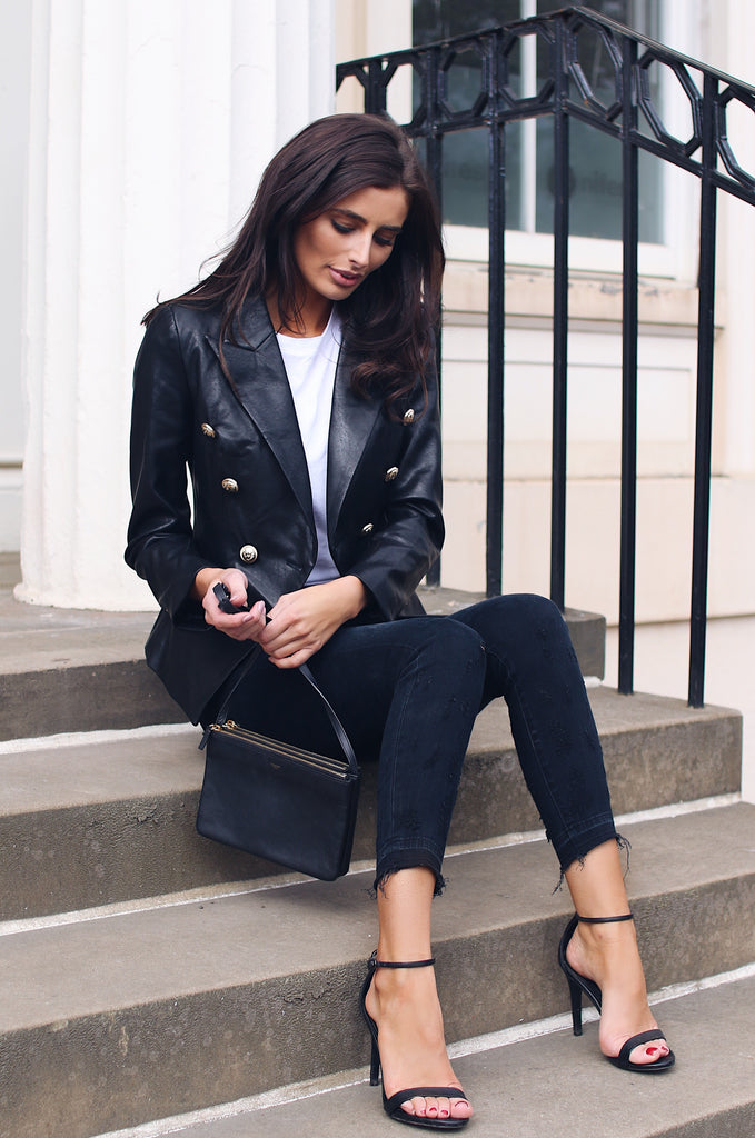 Mayfair Leather Blazer