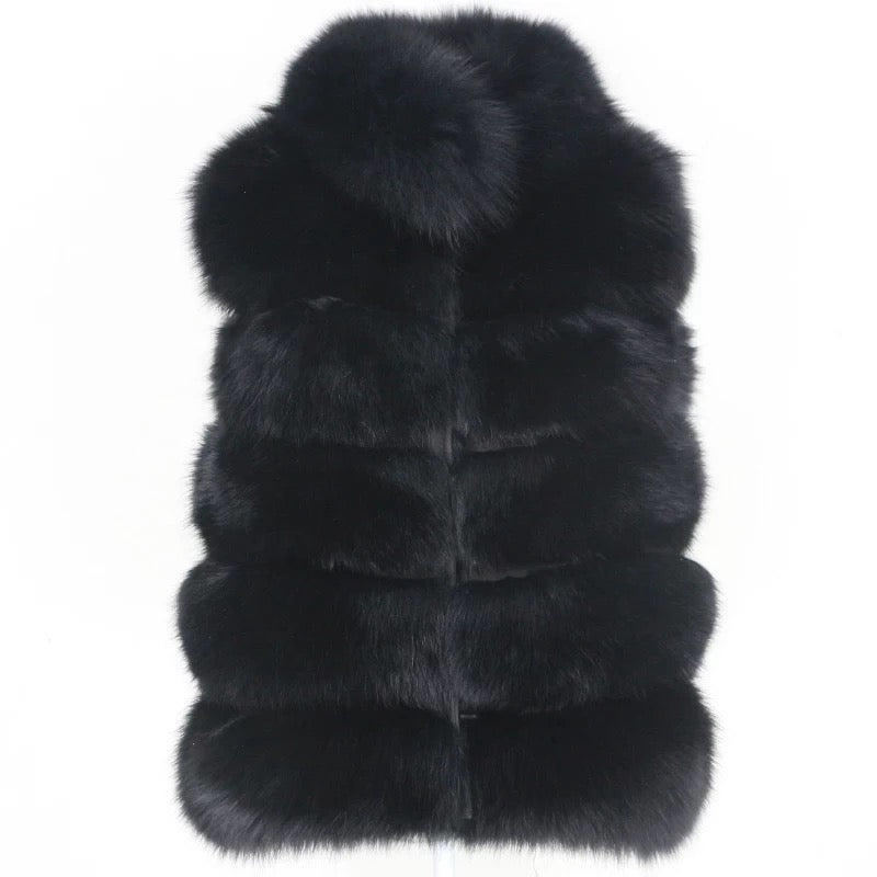 Short Five Pelt Gilet Black