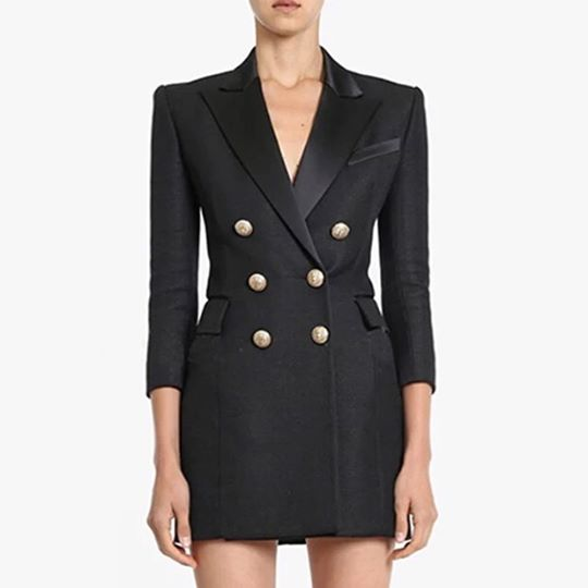 Knightsbridge Mini Black Blazer Dress