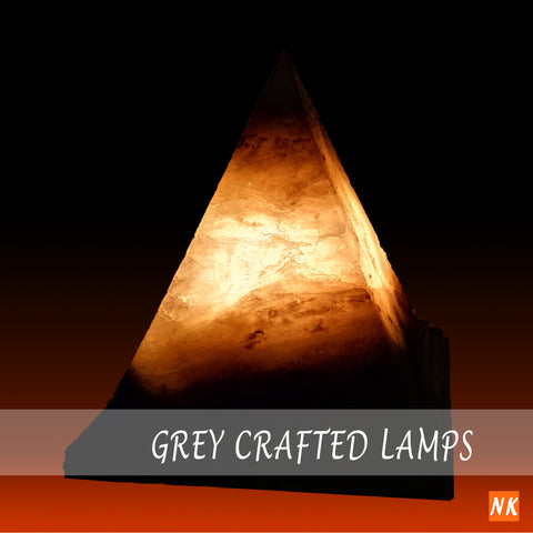 Grey Crafted Lamps