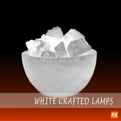 White Crafted Lamps