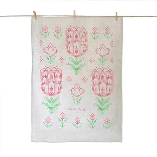 Protea Flower Tea Towel