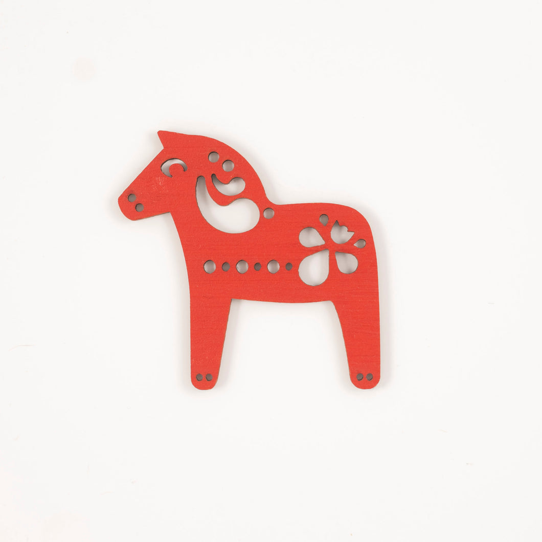 Red Dala horse - small