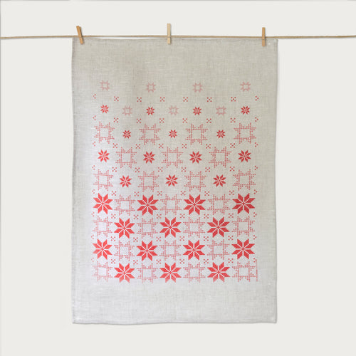 Christmas Star Tea Towel