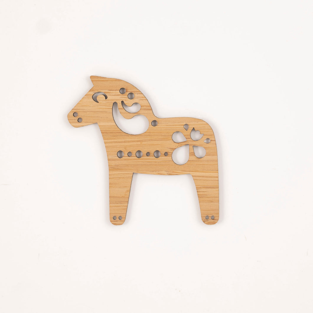 Natural Dala horse - small
