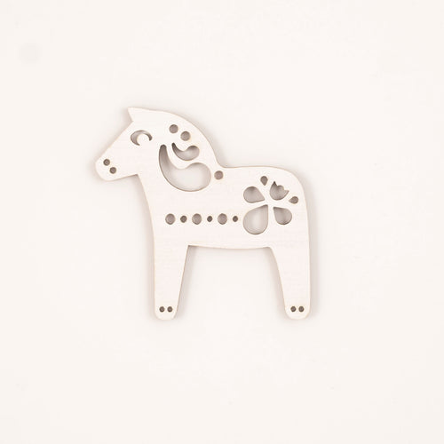 White Dala horse - small